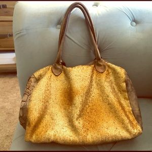 Caterina Lucchi leather & sequin bag (Italy)